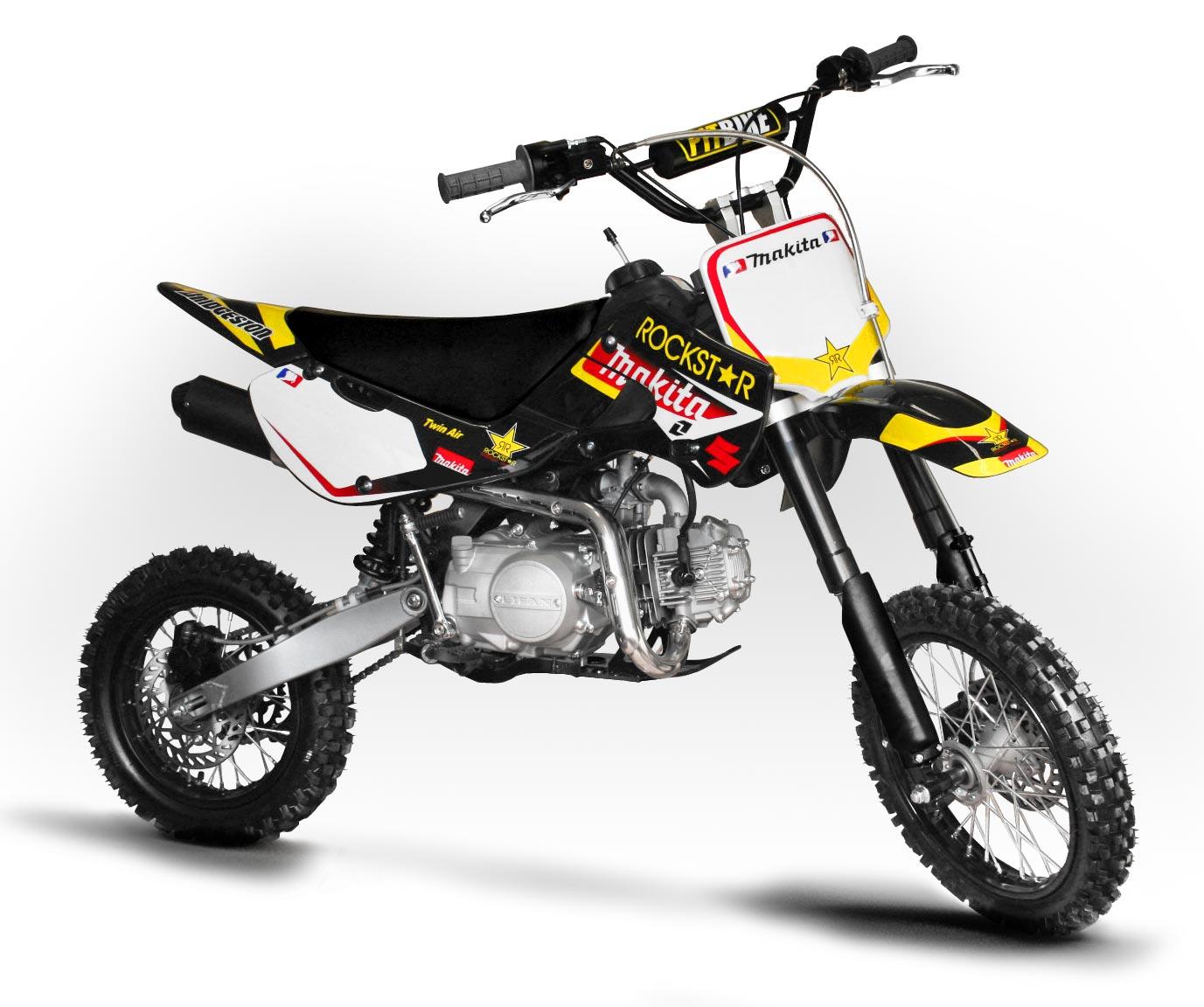 kit decoration klx makita rockstar pour dirt bike pit bike